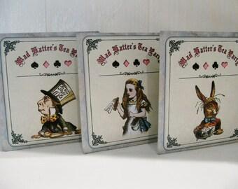 NEW! Tea Bag Envelopes - Alice In Wonderland - Mad Hatter's Tea Party! - Qty of 6 Envelopes