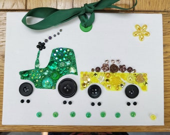Tractor Craft Kit: Kids Craft Projects,  Craft for Kids, Craft Ideas, Kids Gift Ideas, Boy's Craft Kit, Kids DIY Gift, Tractor Art