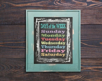 Days of the Week Print