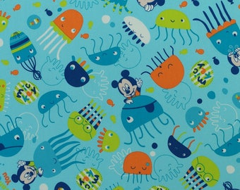 C368 - 140cmx100cm  Cotton Poplin Fabric - Mickey mouse on white background