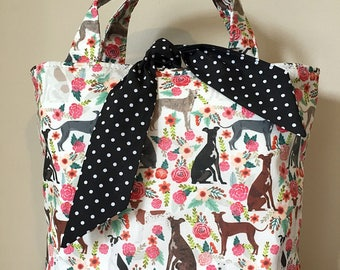 Italian Greyhound dog print handbag
