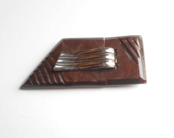 Vintage  French Bakelite Belt Buckle, system closure 1930's