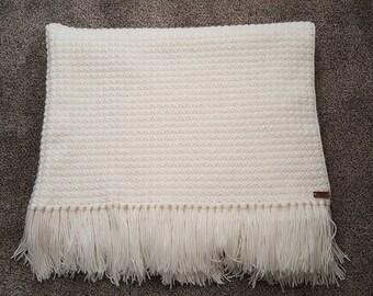 Crocheted oversized blanket