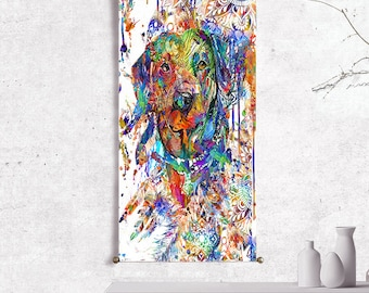 Dog wall art print dog collar art dog painting dog art dog print dog poster wall tapestry wall hanging abstract painting on canvas painting