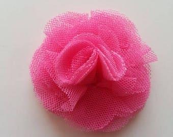 fleur tulle rose fushia  50mm