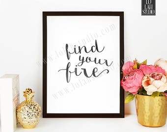 Motivational Typography Printable, Inspirational Print, Birthday Gift, Modern Wall Decor, Lo Lah Studio