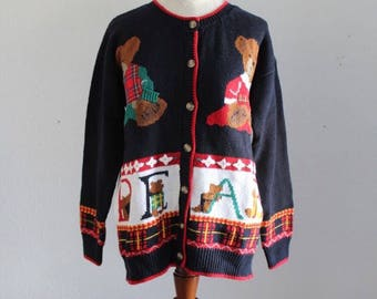 ABC Bears Vintage Cardigan