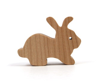 Wooden Bunny Rabbit, Easter Decoration, Small Miniature Rabbit, Mini Bunny Figurine, Easter Rabbit, Easter Accent, Maple