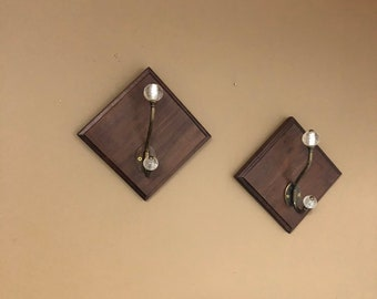 Walnut Plaques with hooks