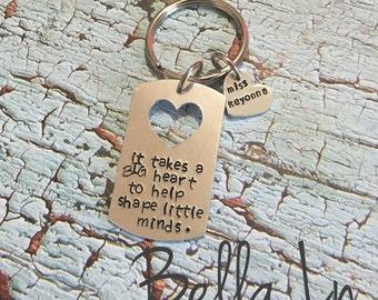 It takes a big heart to shape little minds, teacher Christmas gift