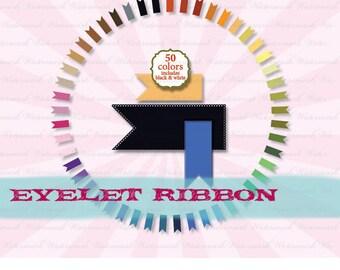 Ribbon Clip Art, digital clipart ribbon, digital ribbon, ribbon clip art, banner clip art, digital clipart eyelet : c0086 v301