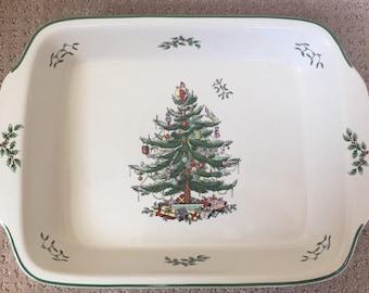 Spode 9 x 13 NIB Christmas Tree Dish