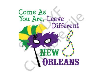 Mardi Gras SVG, New Orleans SVG, Fat Tuesday SVG, Dxf File, Htv, Vinyl Cutting File