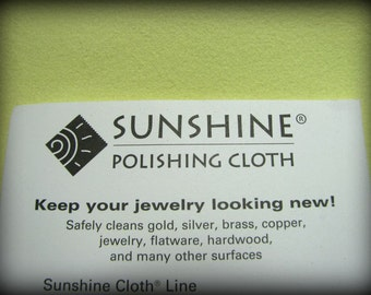 POLISHING JEWELRY CLOTH The Best in Large Size Sunshine Polishing Cloth for Sterling Silver Jewelry 5 x 7.5 inches