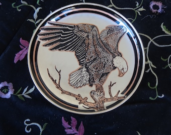 Home Decor - Copper Eagle Plate with hanger