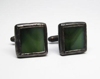 Camouflage - Mens Stained Glass Cuff Link Set