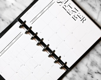 "A5 ""Masterplan"" Monthly Calendar Inserts 2018"
