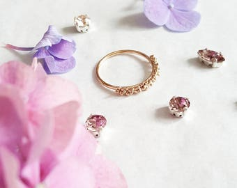 Floral Ring with a crown of flowers