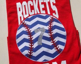 Baseball Mom with Team Name tshirt