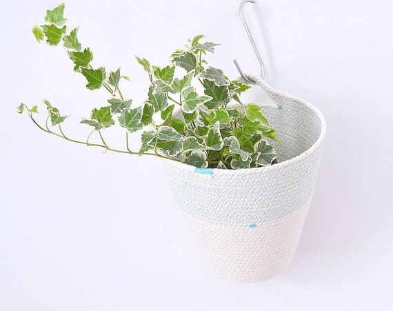 Hanging baskets, Hanging storage, Rope baskets, Nursery decor, Toys basket, Cotton baskets, handle basket, Hanging cotton pot, Home storage