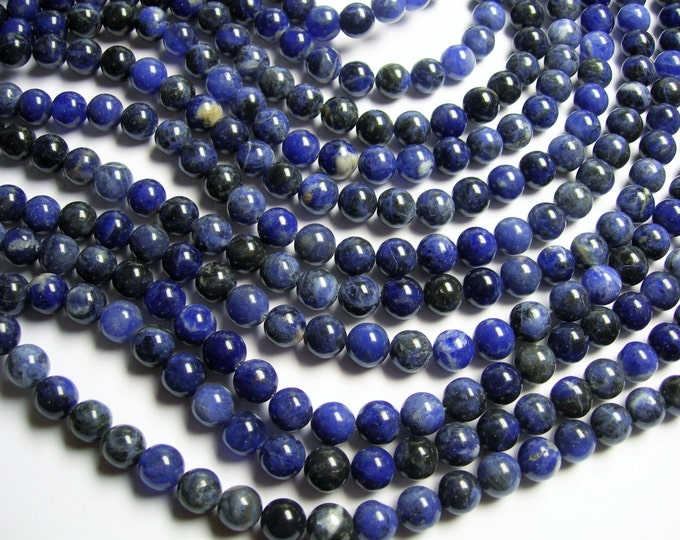 Sodalite - 10 mm round beads - 16 inch  full strand - 40 beads - A quality - RFG1095