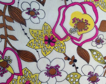 Feminine Vintage light weight fabric with flower design