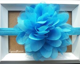 SALE! Blue baby headband,baby headband, baby headbands,baby girl headband, infant headband, newborn headband, blue