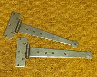 """10"""" Penny End - Hand Forged Tee Hinges (1 pair)"""