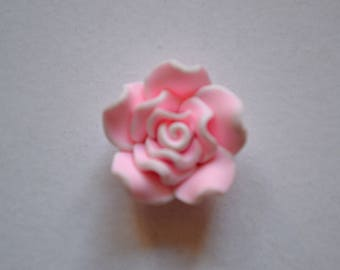 fancy embossed flower pattern button
