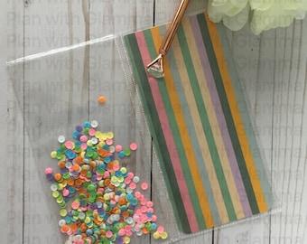 Candy Stripes Standard Traveler's Notebook Shaker + Reloadable Dashboard