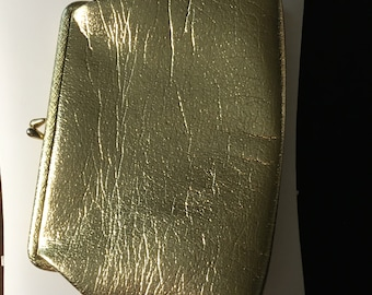 Vintage Metallic Gold Clutch