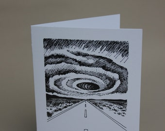 "Greeting Card, Illustration Print: ""Redux"" from 'Oculus'"