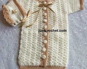Sleep suit and Bonnet Baby Crochet Pattern (DOWNLOAD) 52