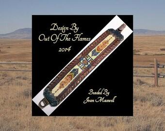 Bead PATTERN Chayton Cuff Bracelet Loom Square Stitch