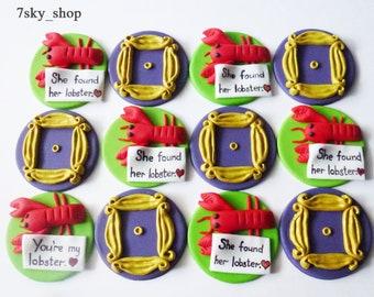 Friends fondant cupcake toppers TV show Edible handmade 12 pcs