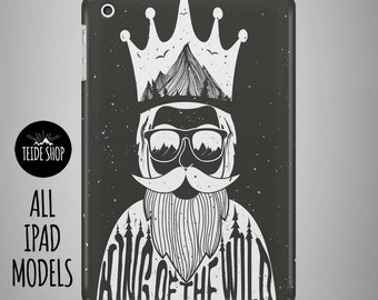 Wild King iPad Case iPad Mini Case iPad Mini Cover iPad Cover iPad Air Case iPad Sleeve Tablet Case Birthday Gift Idea Beard iPad Case