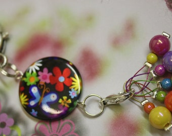 Knitting stitch marker Keeper Flowers