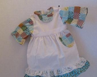 Grandma Hobbie Dress by Knickerbocker Patchwork attached Apron Hollie Hobbie