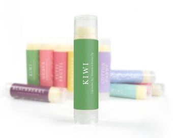 Kiwi Lip Balm | Natural Lip Care, Lip Butter, Handmade Lip Balm, Beeswax Lip Balm, Natural Lip Balm