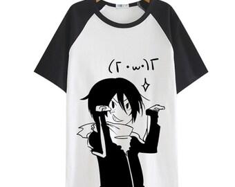 Sudadera Noragami Black and White T Shirt Streetwear man short sleeves top tees