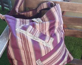 Great bag in purple velvet - Unique Piece