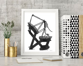 Black, Shoes Print, Shoe Lover, Shoe Wall Art, Shoe Wall Decor, high fashion, fashion shoe, watercolor, fashion illustration, shoe art, gift