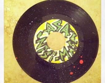 Asa Nisi Masa- original painting on vontage vinyl record.