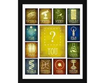 Future Scientist Poster - Science Gift - Science Art - Teacher Gift - Educational Poster - Inspirational School Art - Geek Gift - STEM Decor