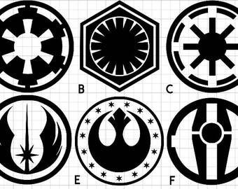 Star Wars Inspired Vinyl Decals - Laptop/Car - Indoor/Outdoor - Star Wars Sticker - Window Decal