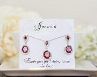 Bridal Sets | Bridesmaid Sets  | Earring & Pendant Bridesmaid Set | Bridesmaid Gifts | Bridesmaid Earrings | Personalized Bridesmaid