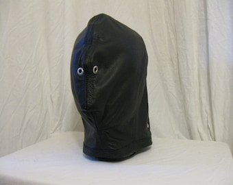 Soft Leather Fitted Isolation Hood