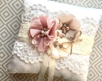 Ivory flower girl basket, basket and pillow ivory, flower girl basket vintage, flower girl basket ivory, CUSTOM COLORS basket and pillow
