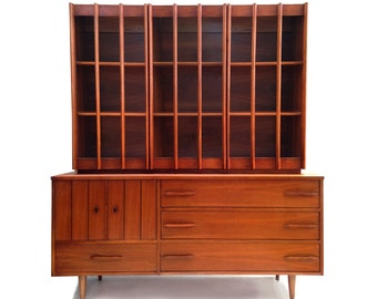 Free Shipping Mid Century Modern Sideboard Credenza Hutch