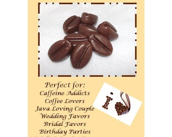 10 Coffee Bean Soap Favors, Coffee Bean Favor, Caffeine Addict Favors, Java Loving Couple Favors,A Baby Bean is Brewing Baby Shower Favor